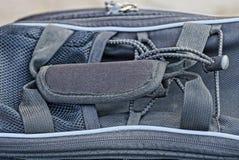 tkaniny tekstura od torby z r?koje?ci? i zamkiem b?yskawicznym zdjęcia royalty free