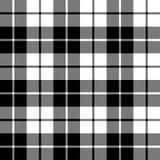 Tkaniny tekstury bezszwowy deseniowy czarny tartan Zdjęcia Stock