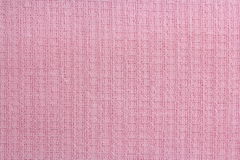 Tkaniny tekstury gofra ręczniki w klatce, menchie Zdjęcia Stock