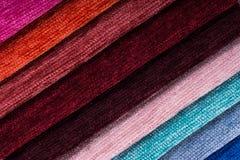 Tkaniny tekstury próbki Obrazy Stock