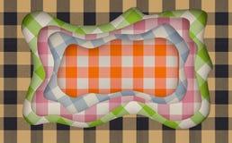 Tkaniny tekstury rżnięty abstrakcjonistyczny tło z spływania cięciem kształtuje świadczenia 3 d ilustracji