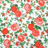 Tkaniny tkaniny wzór z kwiecistym ornamentem Obrazy Stock