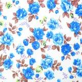 Tkaniny tkaniny wzór z kwiecistym ornamentem dla tła Zdjęcia Royalty Free