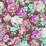 Tkaniny tkaniny wzór z kwiecistym ornamentem dla tła Obraz Royalty Free