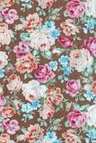 Tkaniny tkaniny wzór z kwiecistym ornamentem dla tła Fotografia Stock