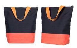 Tkaniny torba odizolowywająca na bielu Obrazy Stock