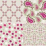 tkaniny wzorów rośliny bezszwowa tekstura Zdjęcia Royalty Free
