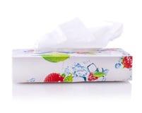Tkanki pudełko kwiat odizolowywający na bielu Obrazy Stock