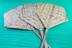 Tkany bambusowy fan Obraz Stock