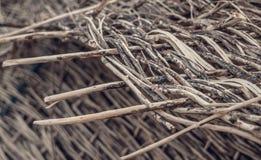 Tkany łozinowy Matowy handmade hicks projektu Obraz Stock