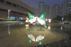 Tko lunar de 2018 del Año Nuevo carnavales de la linterna Foto de archivo