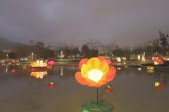 Tko lunar de 2018 del Año Nuevo carnavales de la linterna Fotografía de archivo