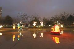 Tko lunar de 2018 del Año Nuevo carnavales de la linterna Imagenes de archivo