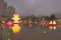 Tko lunar de 2018 del Año Nuevo carnavales de la linterna Imagen de archivo libre de regalías