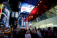 TKTS line in Times Square Stock Photography