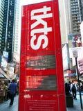 TKTS Rabatt-elektronische Anzeige. Lizenzfreies Stockfoto