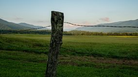 TL Cades Cove Fence. Time lapse of Cades Cove fence in great smoky mountains stock footage