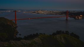 TL SF-Golden Gatezonsondergang stock footage