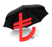 TL Symbol with Red Umbrella Stock Images