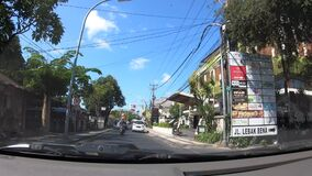 TL Taxi driving in Kuta Bali Indonesia