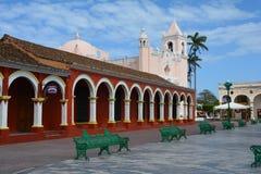 Tlacotalpan韦拉克鲁斯联合国科教文组织村庄在墨西哥 免版税库存图片