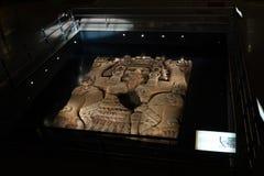 Tlaltecuhtli巨型的巨型独石在墨西哥 库存图片