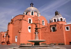 Tlaxcala. Cathedral of the city of tlaxcala, mexico Stock Images