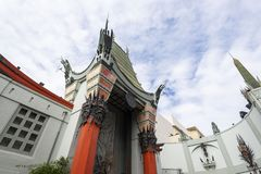Apr 28, 2019 - Los Angeles, California, USA: TLC Chinese Theatre front gate, Hollywood Boulevard, LA, USA. TCL Chinese Theatre is a movie palace on the historic royalty free stock images