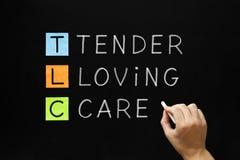 TLC - Tedere het Houden van Zorg Royalty-vrije Stock Afbeelding