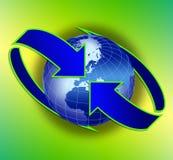 Télécommunication mondiale Photo libre de droits