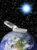 Télécommunication mondiale Photos libres de droits