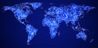 Télécommunications mondiales Images libres de droits