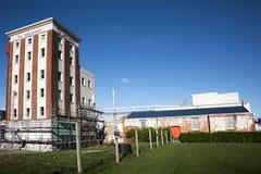 Tld Tui Brewery en pakhuis, Mangatainoka, Nieuw Zeeland Royalty-vrije Stock Afbeeldingen