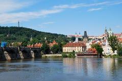 Tle Moldau a Praga Immagini Stock