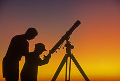 télescope Photo stock