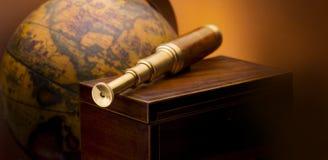 Télescope antique Photo libre de droits