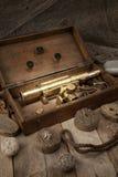 Télescope antique Photos stock