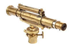 Télescope antique Photographie stock libre de droits