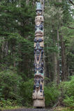 Tlingit totem pole royalty free stock photos