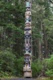 Tlingittotempåle royaltyfria foton