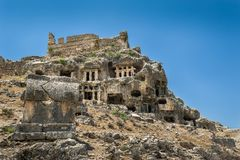 Tlos ancient town ruins Royalty Free Stock Photography