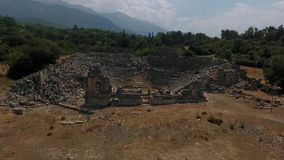 Tlos antic city. In fethiye, turkey stock video footage