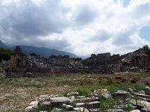Tlos Lycian站点  免版税库存图片