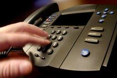 téléphone d'appel d'affaires Photo libre de droits