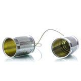 Téléphone de boîtes en fer blanc Photo stock