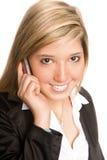 Téléphone de femme Photo libre de droits