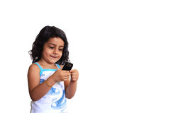 téléphone de fille Images libres de droits