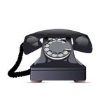 Téléphone noir. Image stock