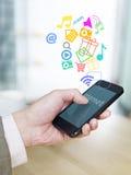 Téléphone portable et Internet Photo libre de droits