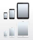 Téléphones et Tablettes basés sur Apple - vecteur Photographie stock
